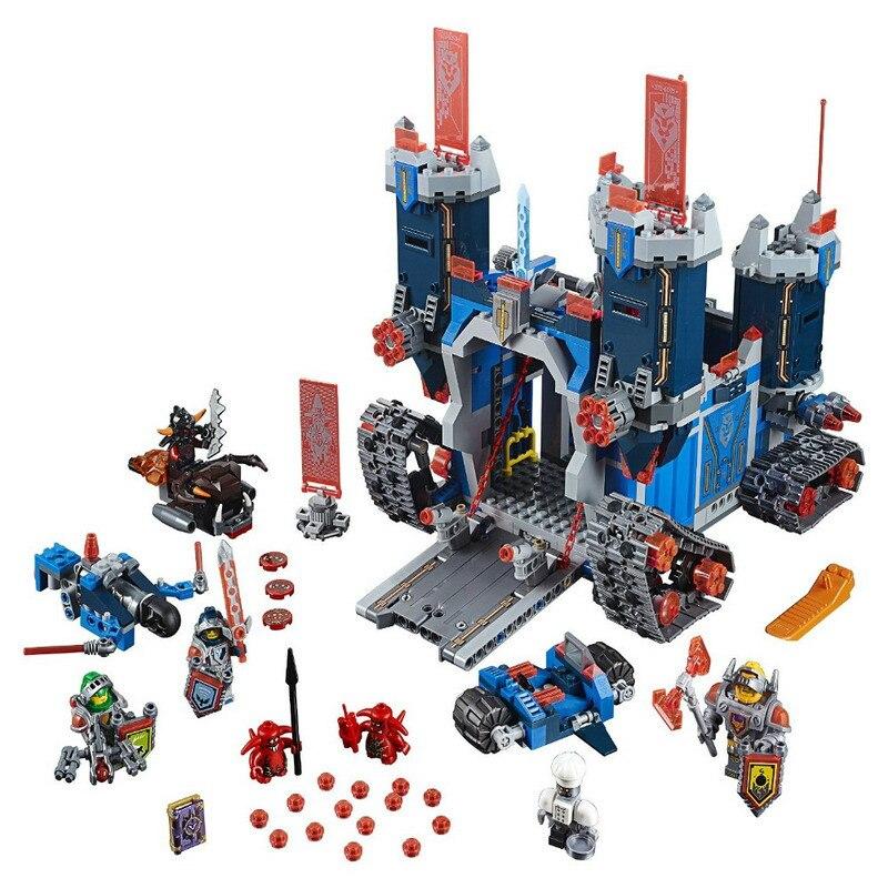 14006 Nexo Chevaliers Knighton Blocs de Construction Du Château Château Modèle Briques Ensemble Enfants Jouets Éducatifs Compatible Legoings 70317