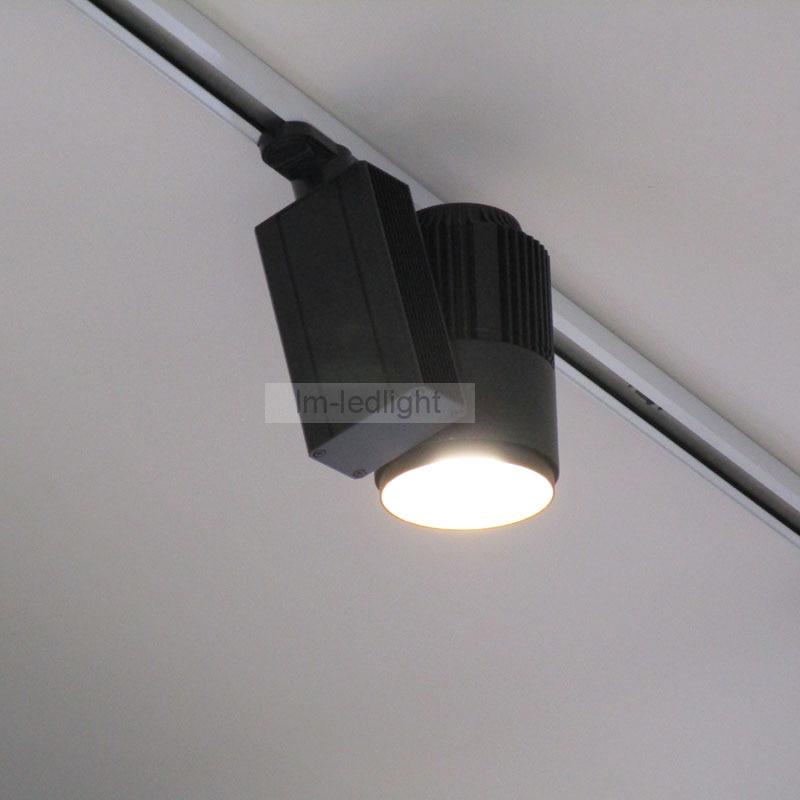 LED Track Light 20W COB Rail Lights Spotlight Equal 200W Halogen Lamp 110v 120v 220v 230V240v Warm Cold Natural White cold white