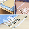 2016 New 4pcs Grippers Bed Sheet Fasteners Clip Cover Elastic Straps Bedding Clips holders useful accessories