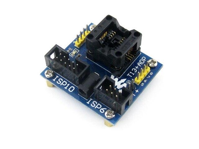 module T13+ ADP ATtiny13 ATtiny12 ATtiny15 ATtiny25 SOIC8 (150 mil) AVR Programming Adapter Test Socket