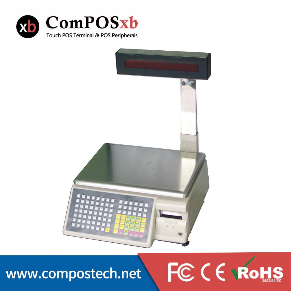 Free Shipping ComPOSxb 30KG Aa-5d Auurate Scaling /electronic Scale With Barcode Printer For Supermarket