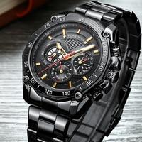 FORSINING Homens Marca Esqueleto Mecânico Automático Relógio de Luxo Relógios de Ouro dos homens de Aço Inoxidável Relógio Relogios Masculino|Relógios mecânicos| |  -