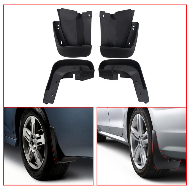 Rubber Molded Splash Guards Mud Flaps For Honda Civic Coupe 4 Door 2006 2011