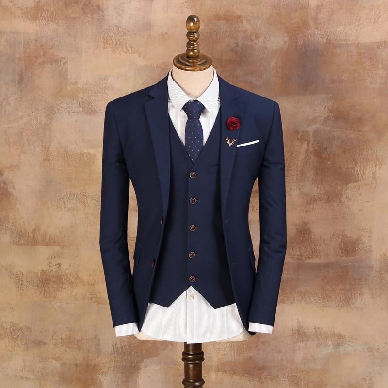 Kostume të cilësisë së mirë për burra 2019 Mashkull Blazer i - Veshje për meshkuj - Foto 4