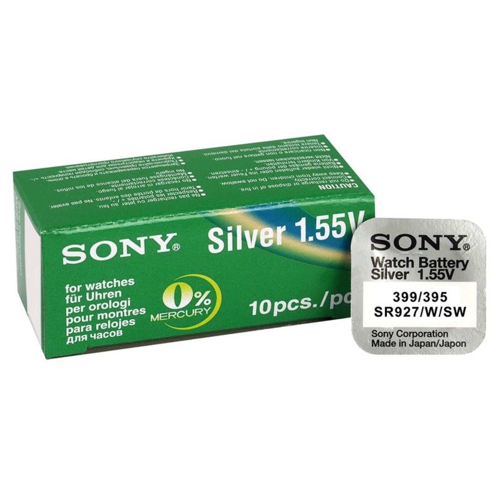 Pilas de Oxido de Plata SR927SW boton Sony bateria original blister 5X Unidades