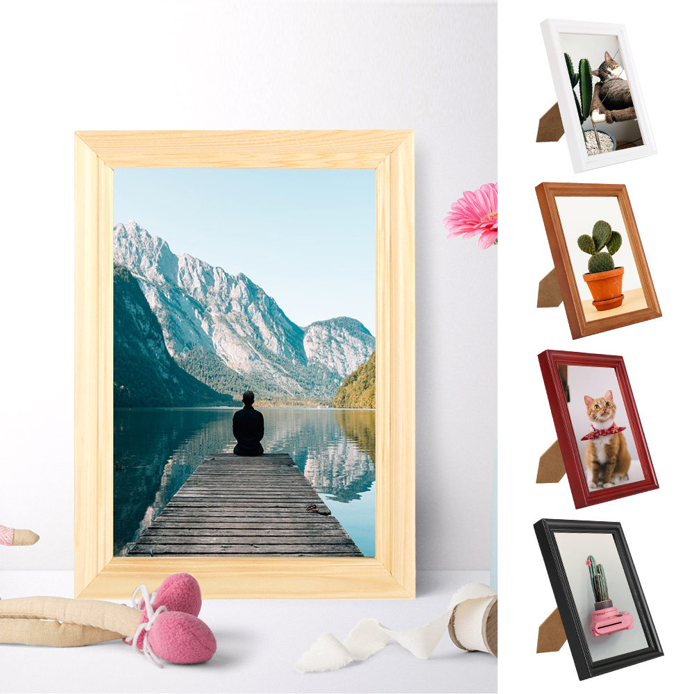 5x7 Rustic Distressed Solid Wood Photo Frames