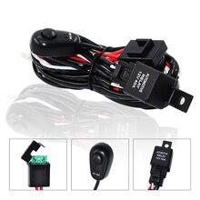 Автомобильный светодиодный светильник, проводной выключатель проводки, релейный Комплект для подключения, 2 светодиодный светильник для вождения, 4WD