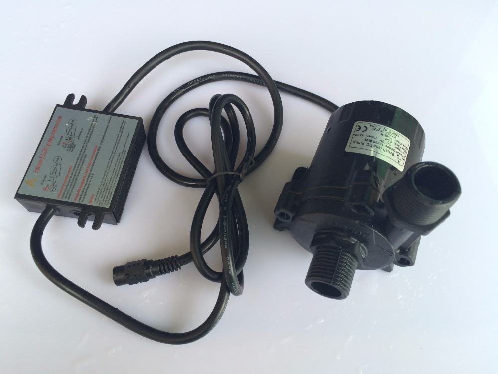 2pcs/ Lot 5-12Vdc DC Brushless 3Phase Micro Solar circulation pump Life 8m Flow 1000L/H Low noise For hot water Circulation