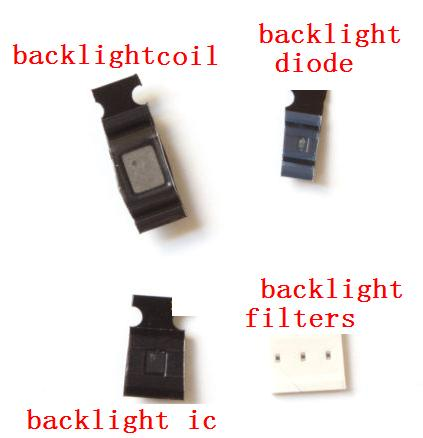 imágenes para 15 set/lot completo kit de luz de fondo para el iphone 6 6 plus retroiluminación chip ic l1503 u1502 + bobina de luz de fondo + d1501 diodo, filtros