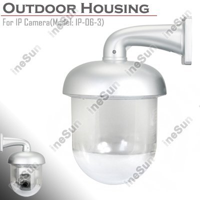 Brand New Outdoor Dome Camera Housing Enclosure for IP Pan Tilt Camera