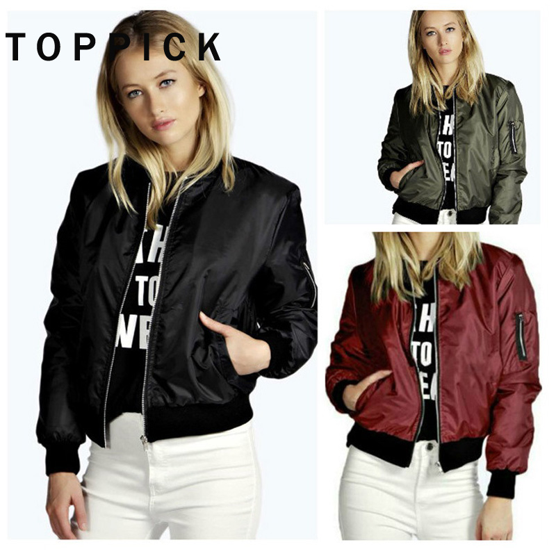 2018 Autumn Jacket Women Long Sleeve Basic Coats Bomber Jacket Women Casual Short Coat Women Outerwear blouson veste femme