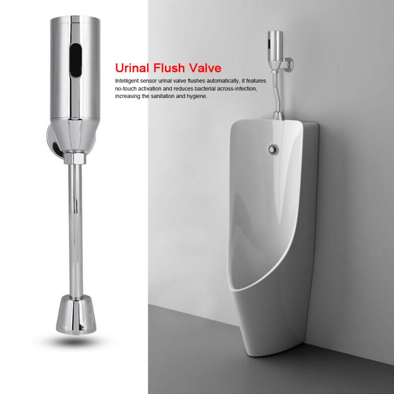 Brass Toilet Flush Urinal Valve Bathroom Sensor Urinal Valve Toilet Wall Mounted Automatic Sensor Touchless Urinal