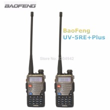 2-TLG BaoFeng UV-5RE Plus Talkie Walkie 128CH Dualband VHF & UHF Transceiver Zweiwegradio Tragbaren Interph