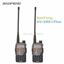 De $ number pcs baofeng uv-5re + plus negro banda dual de dos vías walkie talkie Radio UHF VHF FM VOX Dual Display Radios Comunicador En moscú