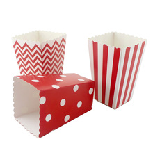 24pcs/lot Red Party Paper Decoration Popcorn Box Candy Gift for Celebration