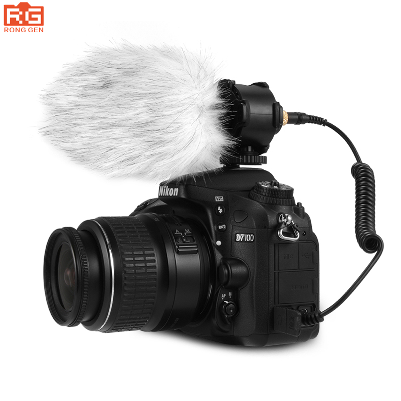 BOYA BY PVM50 Professional Capacitive Stereo Microphone for Canon Nikon Digital Camera DV Camcorder DC with