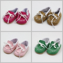 NEW Arrival Dolls Shoes American Causal Loafers Baby Toys Fit 18 inch Girls Doll and 43 cm Accessories