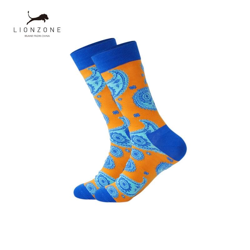 New Fashion Tide Personalized Jacquard Totem Cotton Socks Retro National Wind Men And Women Tube Socks Street Hip Pop Sox