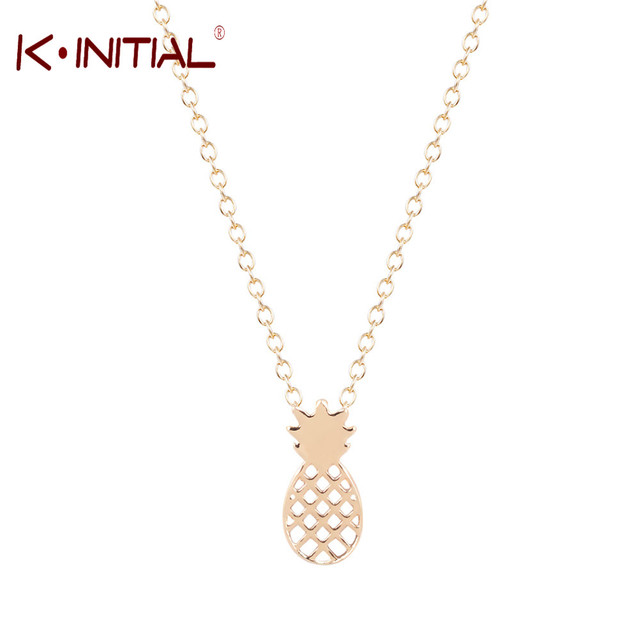 adda6b473aa Kinitial 10Pcs Cute Gold Silver Pineapple Necklace Pendant for Women Jewelry  Trendy Fruit Choker Necklace Personalized