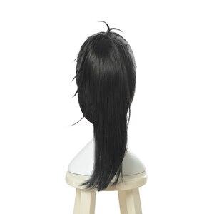 Image 3 - L メールかつらどろろ Hyakkimaru コスプレウィッグ黒コスプレかつらポニーテールハロウィン耐熱人工毛