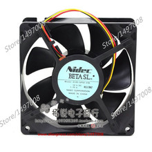 Free Shipping For Nidec D12E-12PS2 01B  DC 12V 1.70A 3-wire 3-pin connector 80mm, 120x120x38mm Server Square fan