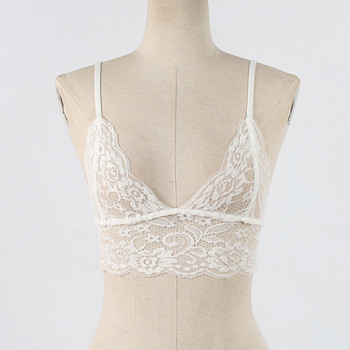 Women Hollow Out Elastic Cage Bra Lace Tank Tops