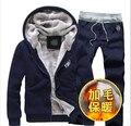 Nuevo 2017 marca otoño invierno patchwork cálido terciopelo sudadera hombres clothing hombre chándal casual mens hoodies y sudaderas 3xl