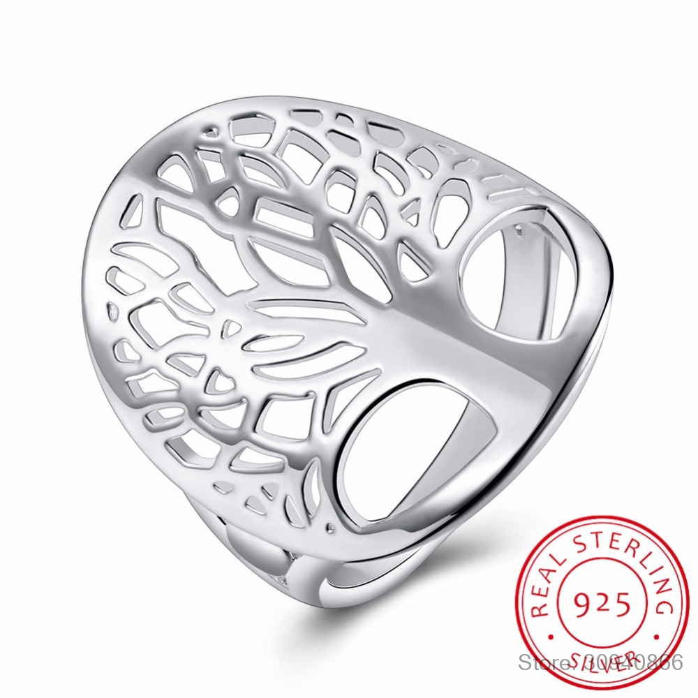 LEKANI Tree Of Life Ring Classic Accessories 925 Sterling Silver Rings Anillos Fine Jewelry For Women New Mothers Day Gifts