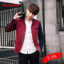 Plus Size Blazer Men Chinese Collar Suit Mens Autumn Blazer