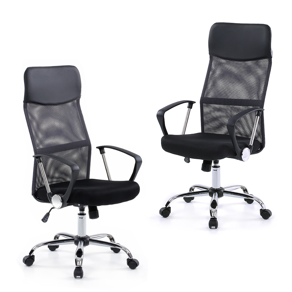 Modern task chairs - Us Stock Brand Ikayaa Mesh Adjustable Office Chair Stool High Back Swivel Computer Task Chair Furniture Sgs Intertek Report