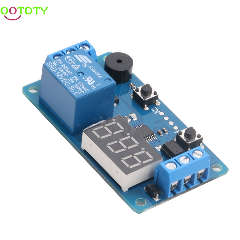 DC 12V LED Display Digital Delay Timer Control Switch Module PLC Automation New  828 Promotion 12v timing delay relay module cycle timer digital led dual display 0 999 hours