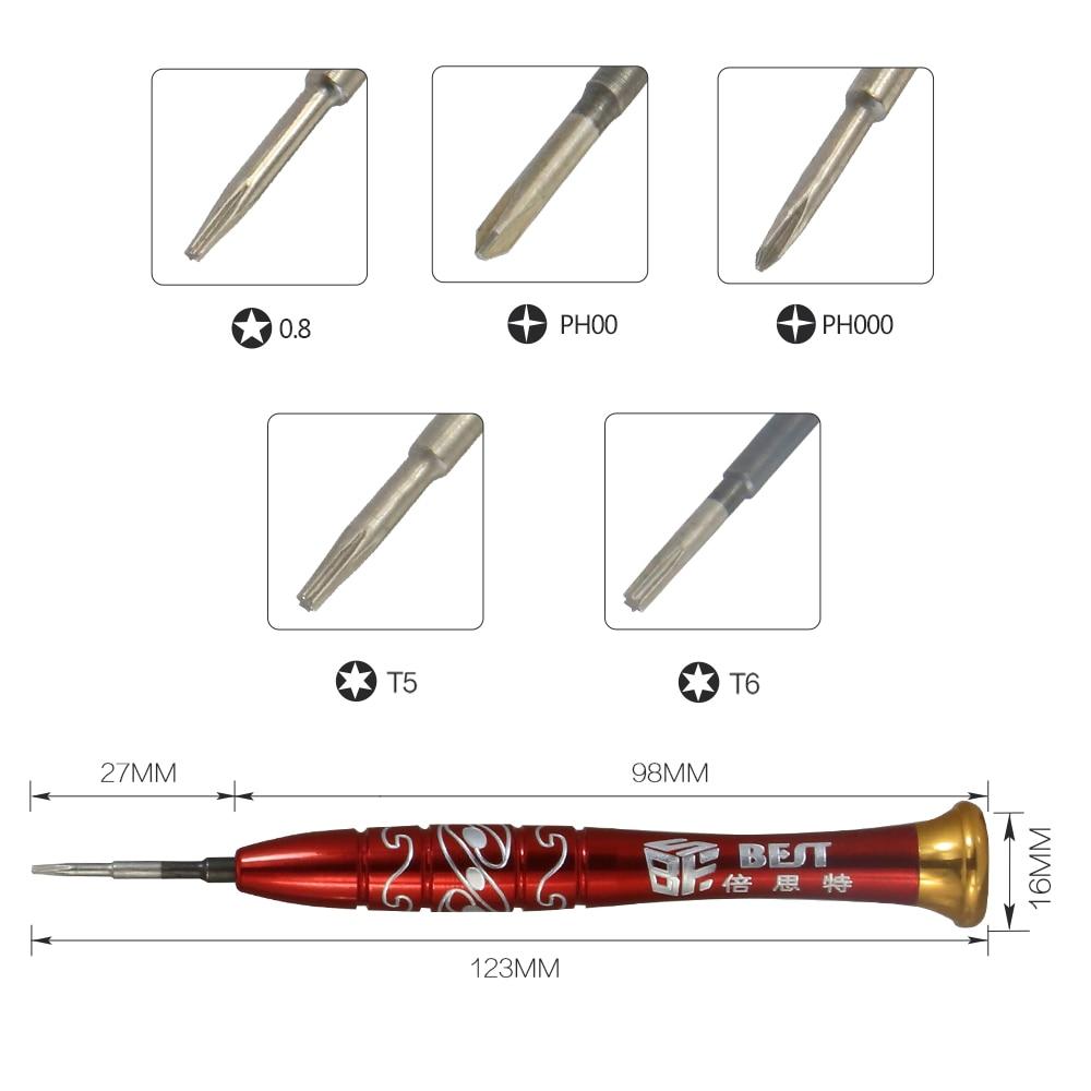 Envío gratis BEST-668 juego de destornilladores de acero S2 - Herramientas manuales - foto 2