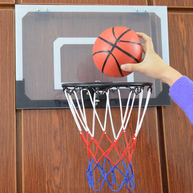 2eeb3838ea2 Indoor Adjustable Hanging Basketball Netball Hoop Basketball Box Miniature  Sport Backboard Game Goal Door For Children Kids-in Toy Sports from Toys ...