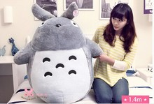 huge lovely plush Totoro toy big stuffed classic expression totoro doll gift about 130cm