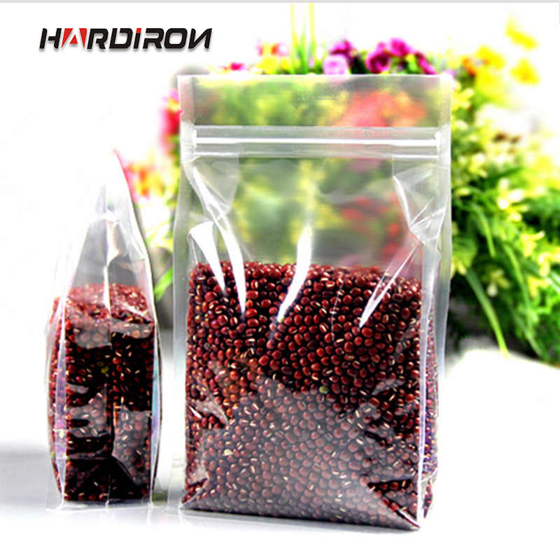 Small zip lock stand plastic pack food Custom Size bags Thicken transparent plastic packaging grains spices melon seeds pouches