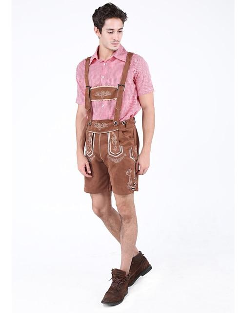 MOONIGHT 2 Pcs Hot German Beer Man Costumes Adult German Bavarian Oktoberfest Costume Men Halloween Cosplay Costumes 2