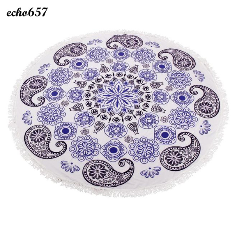 Beach Towel in Bath Towel Echo657 Summer Round Beach Pool Home Shower Towel Blanket Table Cloth for Adult Jan 10