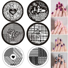 Stamping-Plate Nail Image-Stamp Round Patterns New for Stainless-Steel 108
