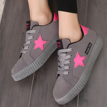 Women Casual Shoes Summer Breathable Vulcanized Star Shoes Ladies Comfortable Damping Sneakers Basket Femme Plus Size 35-43