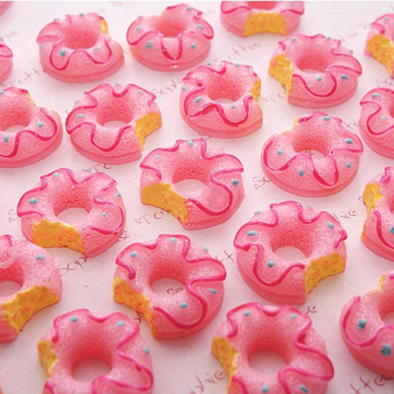 10PCS Kinds of Donuts Shokugan Decor Figurine Cabochon Toys Dollhouse/Miniatures DIY Phone Case Accessories Material