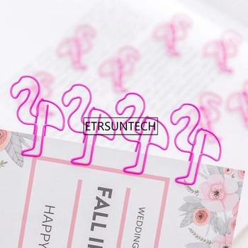 Flamingo Bookmark Clip Creative Pig Cute Cartoon Pink Animals Paper Clips Office School Storage Supplies