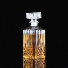 900 ml Vintage Dekanter Glas Schnaps Kristall Flasche Wein Stopfen Scotch