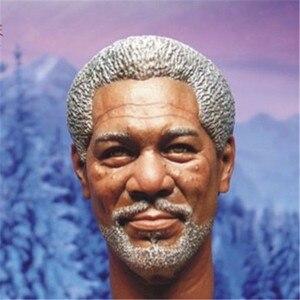 """Image 2 - Morgan Freeman modelo de cabeza esculpida para hombre, juguetes a escala 1/6, modelo de talla de cabeza para hombre, accesorio de figura de acción masculino de 12 """", envío gratuito"""