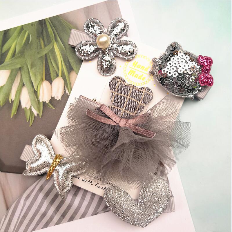5 Unids / set Niños Barrettes Horquillas Sombreros flor niñas arcos - Accesorios para la ropa - foto 3