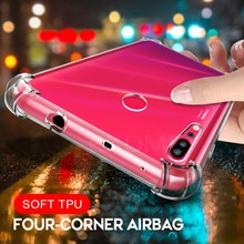 Anti-Skid Clear Airbag Case For Huawei Nova 4 3i 3 2S 2i P Smart 2019 Cover Silisone Case For Huawei Honor Play 8X Max 8C 8 Lite(China)