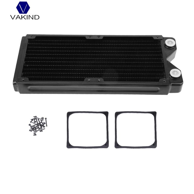 VAKIND Black 240mm Water Cooling Radiator Computer Heat Sink Radiator Water Cooler Exchanger Water Cooling Computer Exchanger synthetic graphite cooling film paste 300mm 300mm 0 025mm high thermal conductivity heat sink flat cpu phone led memory router