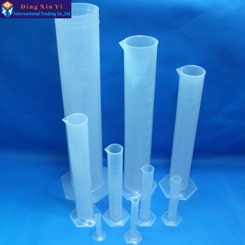 1pcs Plastic Measuring Cylinder Graduated Cylinders for Lab Supplies Laboratory Tools School Lab Accessories