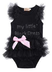 Kids baby lace tulle ruffles bowcute baby dress cotton summer clothing outfit sleeveless baby wear jumpsuits.jpg 250x250