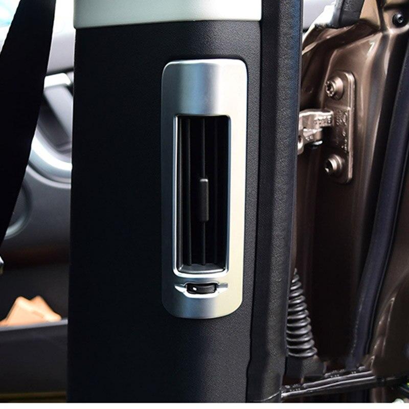 MONTFORD ABS mat intérieur arrière arrière B pilier évent couvercle décoratif garniture 1 pièces pour Land Rover Discovery Sport 2015 2016 2017