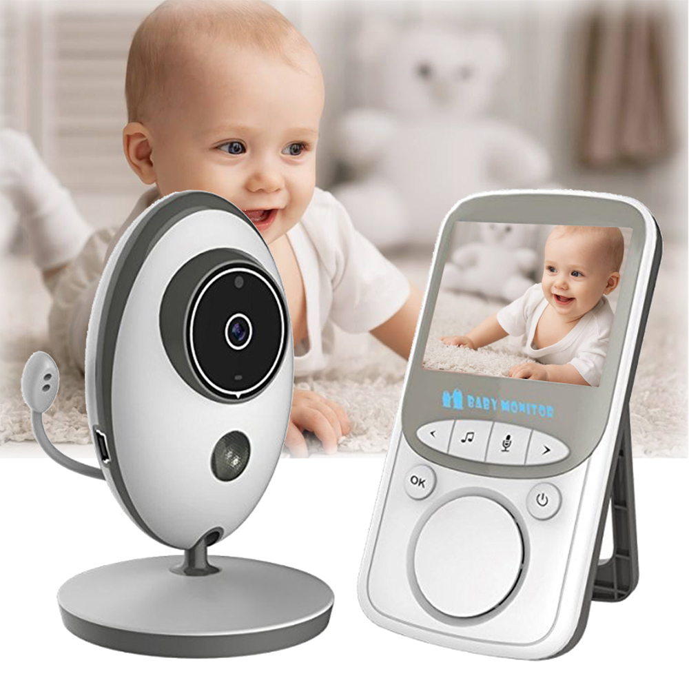 VB605 LCD Audio Video Baby Monitor Wireless Radio Nanny Music Intercom IR 24h Portable Baby Camera Baby Walkie Talkie Babysitter leshp wireless audio video baby monitor 2 4 inch lcd vb605 radio nanny music intercom baby camera night vision babysitter
